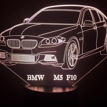 BMW M5 F10 3D Illusion Lamp
