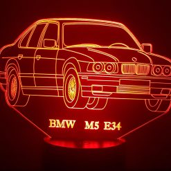 BMW M5 E34 3D Illusion Lamp