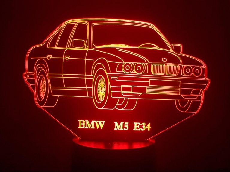 BMW M5 E34 3D Illusion Lamp
