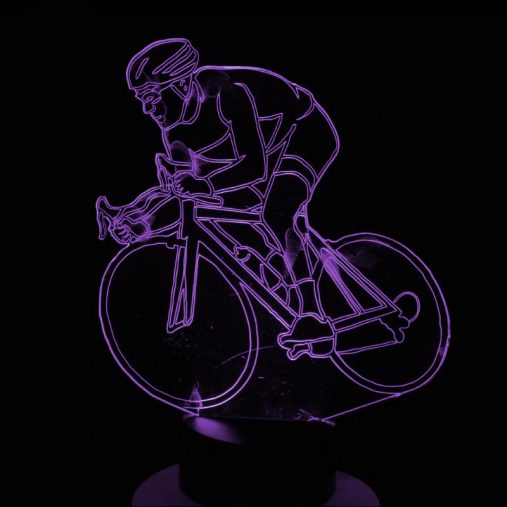 Cycling 3D Illusion Led Lamp