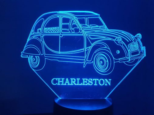 2CV Charleston 3D Illusion Lamp