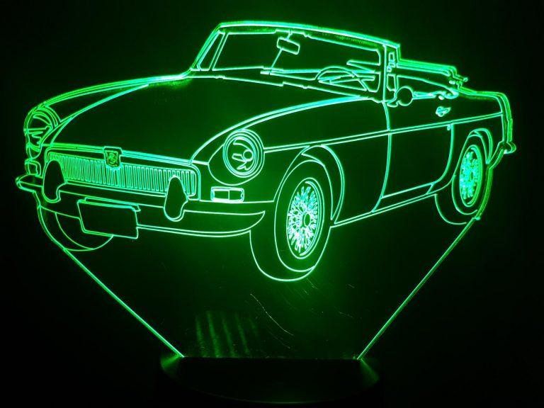 MG MGB 3D Illusion Lamp