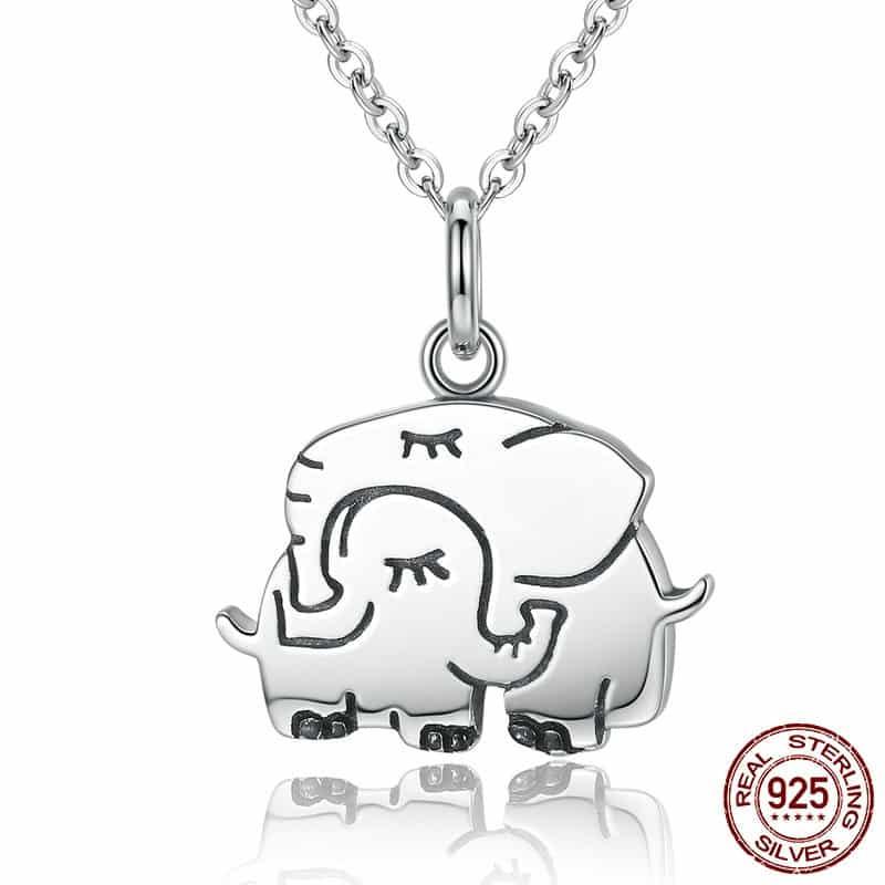 S925 Elephants Family Ring