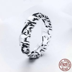 S925 Elephants Family Ring