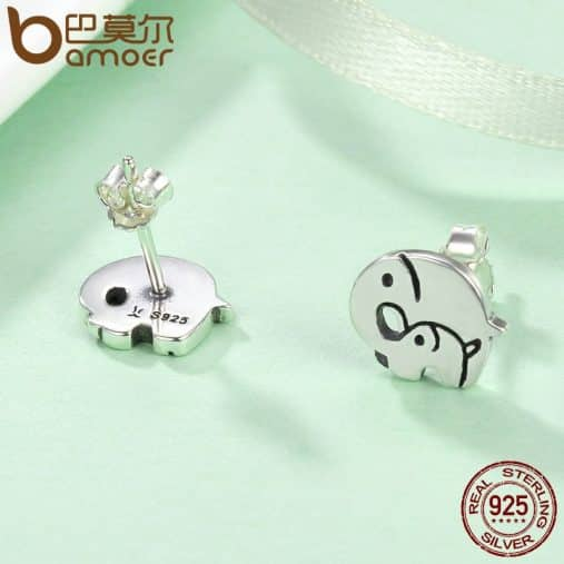 Mother and Baby Elephant Earrings