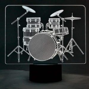 Drums 3D Illusion Led Lamp