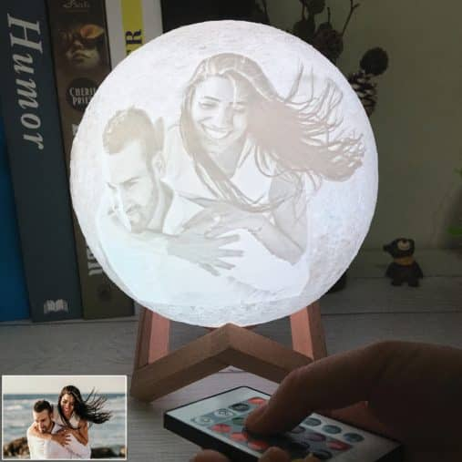 Custom 3d moon lamp