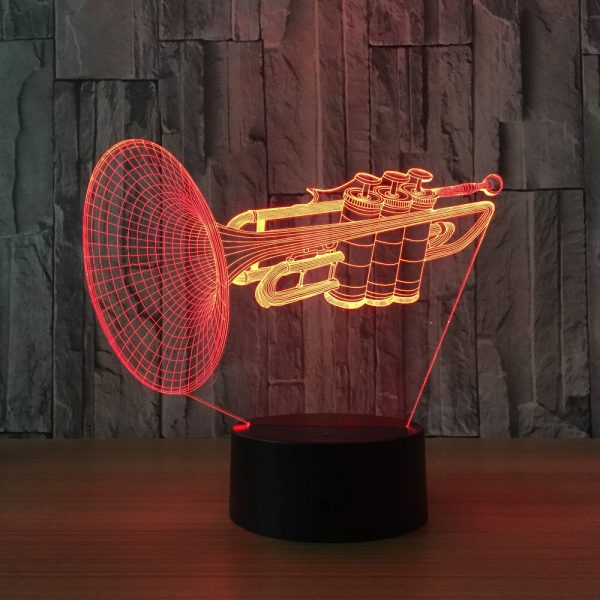 Trumpet 3D Illusion Led Lamp