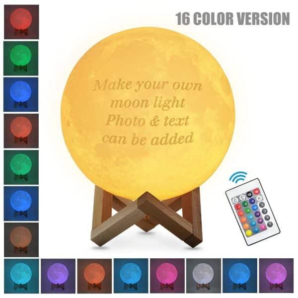 Custom 3D Moon Lamp