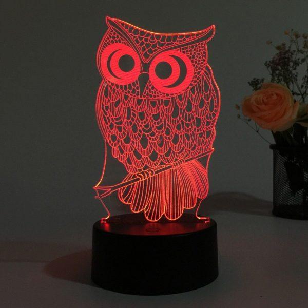 Owl 3D Illusion Led Lamp