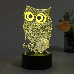 Owl 3D Illusion Led Lamp