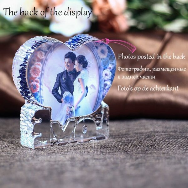 Personalized glass heart keepsake