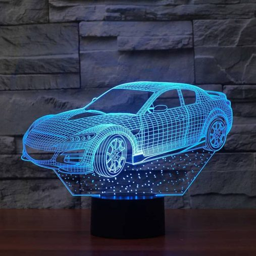 Mazda RX-8 3D Illusion Lamp