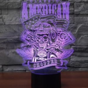 American Chopper 3D Illusion Lamp