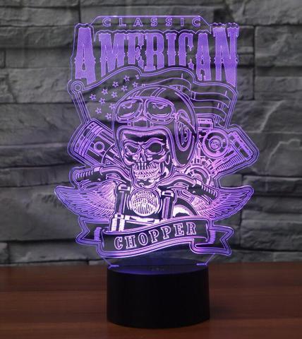 American Chopper 3D Illusion Lamp