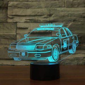 Police Car 3D Illusion Lamp
