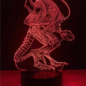 Alien xenomorph 3D Illusion Lamp
