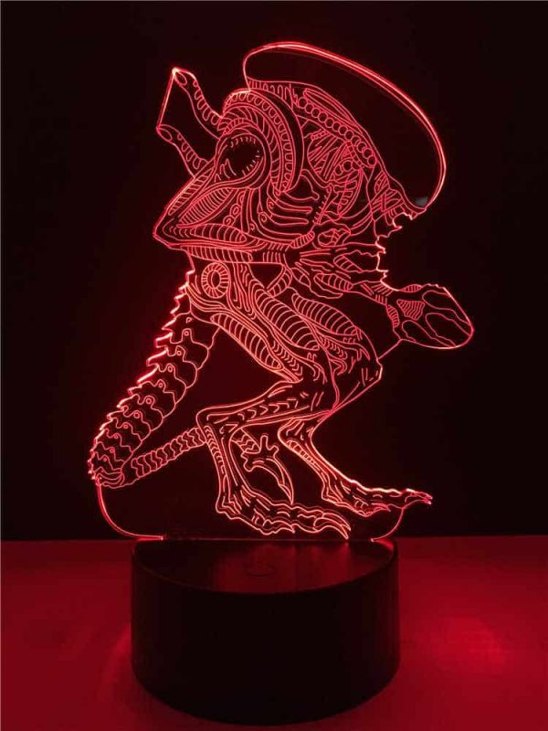Alien xenomorph 3D Illusion Lamp