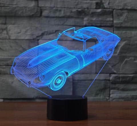Jaguar E Type 3D Illusion Lamp