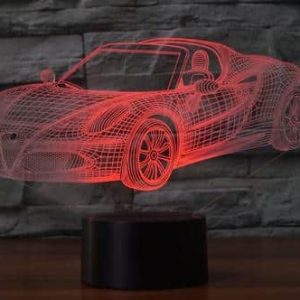 Alfa Romeo 4C Spider 3D Illusion Lamp