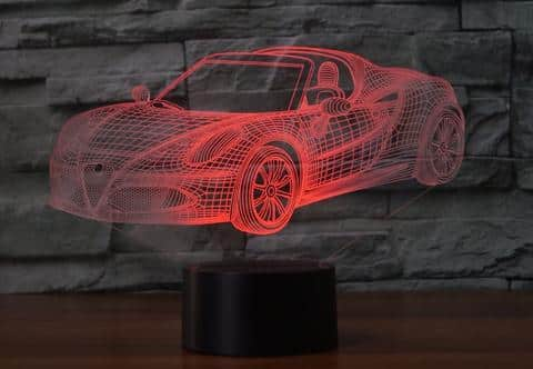 Alfa Romeo 4C Spider 3D Illusion Lamp
