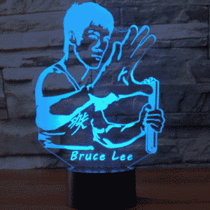 Bruce Lee 3D-Illusionslampe