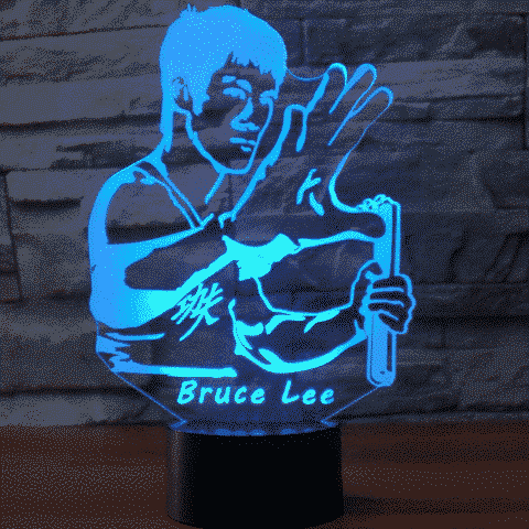 Bruce Lee 3D Illusion Lamp