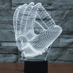 Baseball Gloves 3D Illusion Lamp