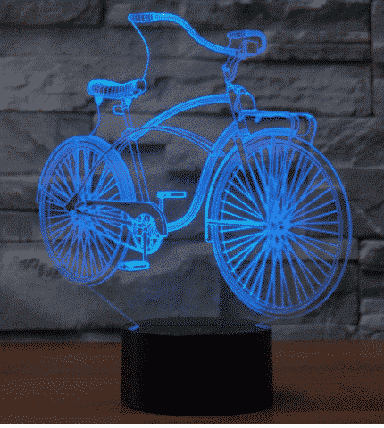 Bicycle 3D Illusion Lamp