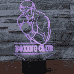 Boxing Club 3D Illusion Lamp