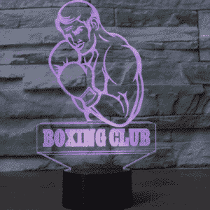 Boxing Club 3D Illusionslampe