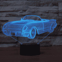 Chevrolet Corvette 1954 3D Illusion Lamp