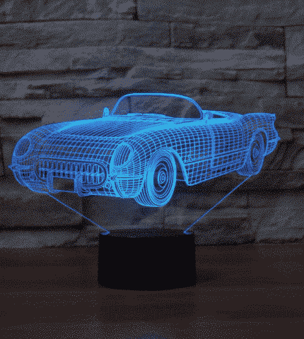 Chevrolet Corvette 1954 3D Illusion Lamp