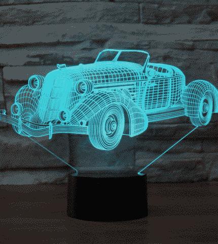 Auburn speedster 851 1935 (desert studio) 3D Illusion Lamp