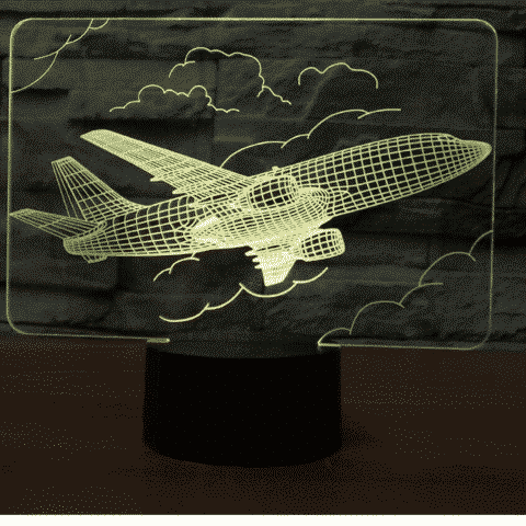 Airliner 3D Illusion Lamp