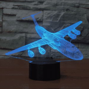 Lockheed C5 Galaxy 3D Illusion Lamp