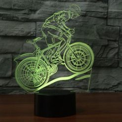Mountain Bike 3D Illusion Lamp