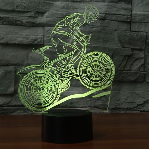 Mountain Bike 3D Illusion Lamp