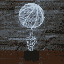 Basketball Skeleton Hand 3D Illusion Lamp