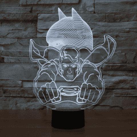 Superman 3D Illusion Lamp