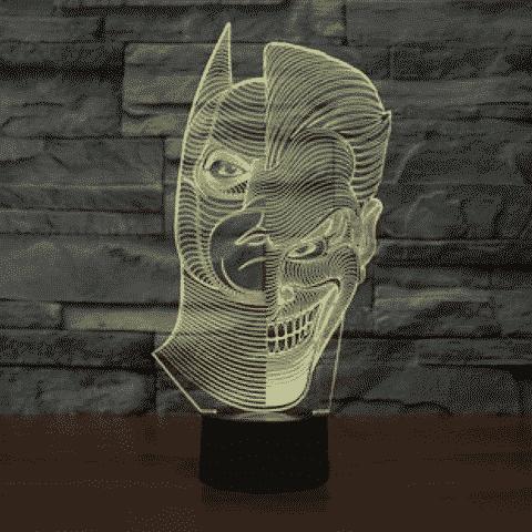 Batman/Joker 3D Illusion Lamp