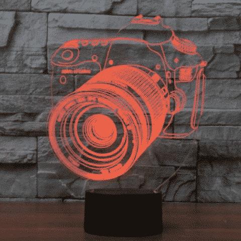 DSLR Camera 3D Illusion Lamp