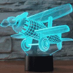Old Airplane 3D Illusion Lamp