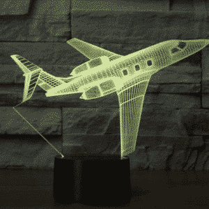 Bombardier Challenger 600 3D Illusion Lamp