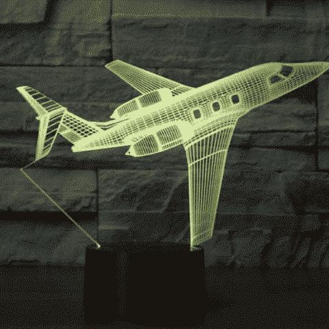 Bombardier Challenger 600 3D Illusion Lamp