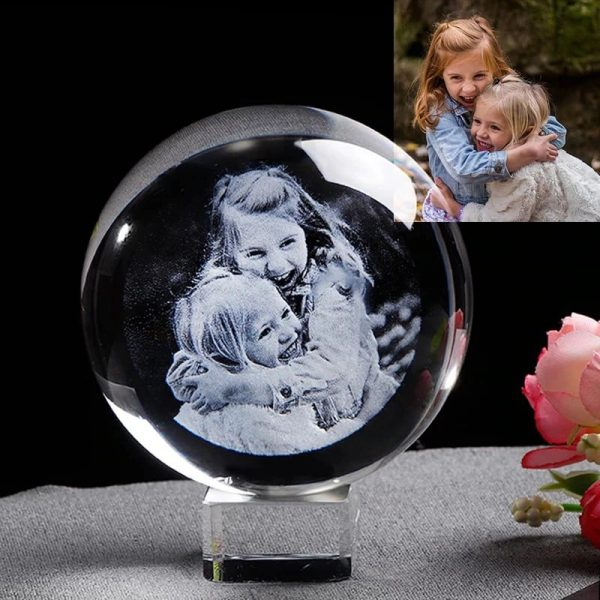 Custom 3d photo engraved crystal lamp