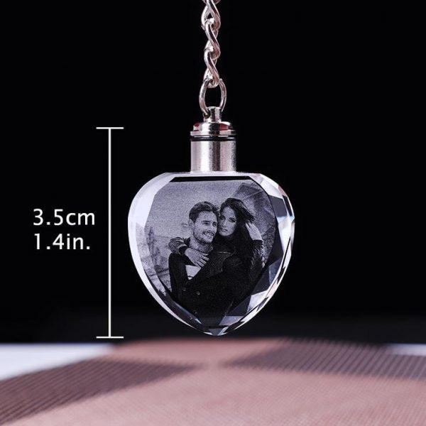 Laser etched photo keychain