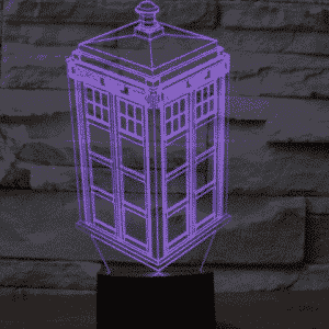 Police Box 3D Illusion Lamp