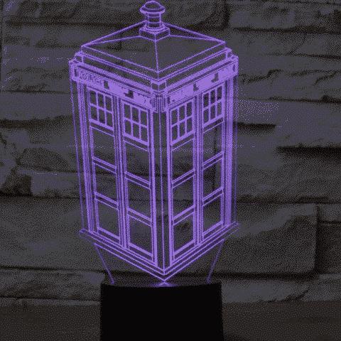 Police Box 3D Illusion Lamp