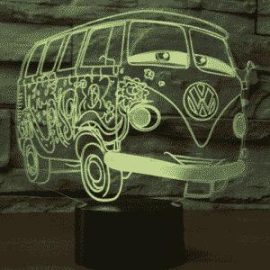 VW Bus 3D Illusion Lamp